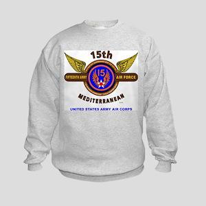 15TH ARMY AIR FORCE* ARMY AIR CORP Kids Sweatshirt