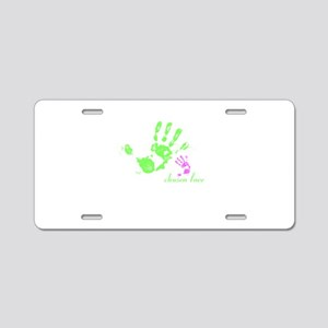 we are family! Aluminum License Plate