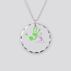 we are family! Necklace Circle Charm
