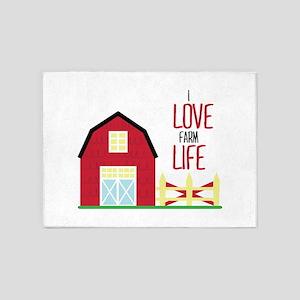 I Love Farming 5'x7'Area Rug