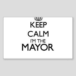 Keep calm I'm the Mayor Sticker