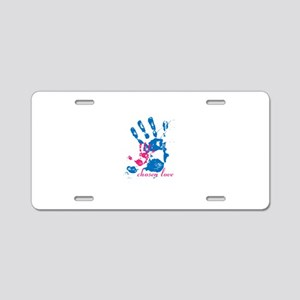 i'll hold your hand Aluminum License Plate