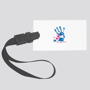 i'll hold your hand Large Luggage Tag