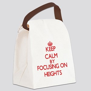 Keep Calm by focusing on Heights Canvas Lunch Bag