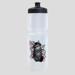 Cute Kitten Kitty Cat Sports Bottle
