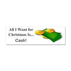 Christmas Cash Car Magnet 10 x 3
