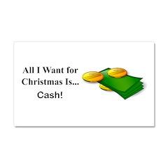 Christmas Cash Car Magnet 20 x 12