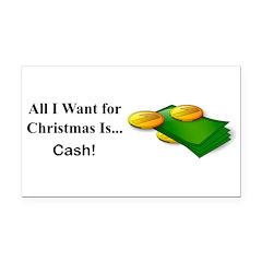 Christmas Cash Rectangle Car Magnet