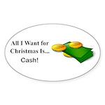 Christmas Cash Sticker (Oval 10 pk)