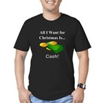 Christmas Cash Men's Fitted T-Shirt (dark)