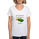 Christmas Cash Women's V-Neck T-Shirt