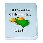 Christmas Cash baby blanket
