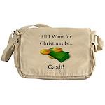 Christmas Cash Messenger Bag