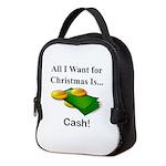 Christmas Cash Neoprene Lunch Bag