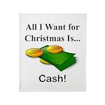 Christmas Cash Throw Blanket