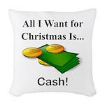 Christmas Cash Woven Throw Pillow