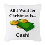 Christmas Cash Woven Throw Pillow