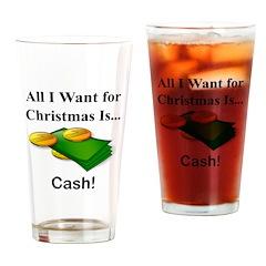 Christmas Cash Drinking Glass