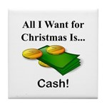 Christmas Cash Tile Coaster