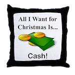Christmas Cash Throw Pillow
