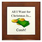 Christmas Cash Framed Tile