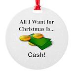Christmas Cash Round Ornament