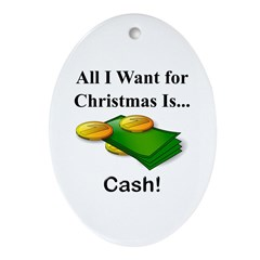 Christmas Cash Ornament (Oval)