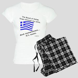 Greek Blood and Ouzo Women's Light Pajamas