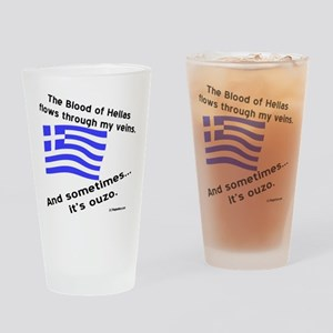 Greek Blood and Ouzo Drinking Glass
