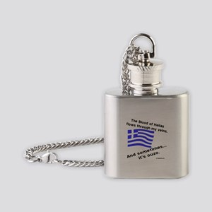 Greek Blood and Ouzo Flask Necklace