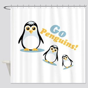 Go Penguins! Shower Curtain