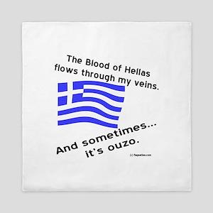 Greek Blood and Ouzo Queen Duvet