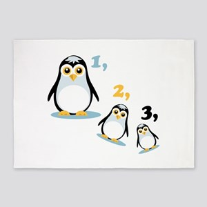 Penguin Family 5'x7'Area Rug