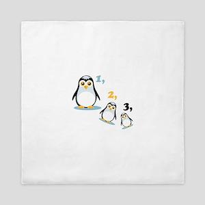 Penguin Family Queen Duvet