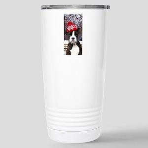 Christmas Boxer Dog Travel Mug