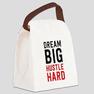 Dream Big Hustle Hard Canvas Lunch Bag