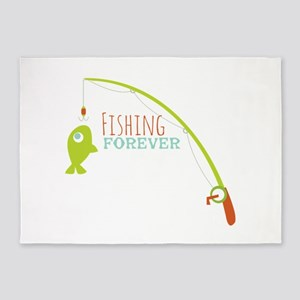 Fishing Forever 5'x7'Area Rug
