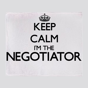 Keep calm I'm the Negotiator Throw Blanket