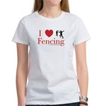 I Love Fencing Women's T-Shirt