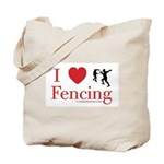 I Love Fencing Tote Bag