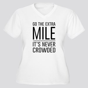 Go the Extra Mile…It's Never Crowded Plus Size T-S