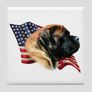 Mastiff(apr) Flag Tile Coaster
