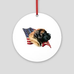 Mastiff(apr) Flag Ornament (Round)
