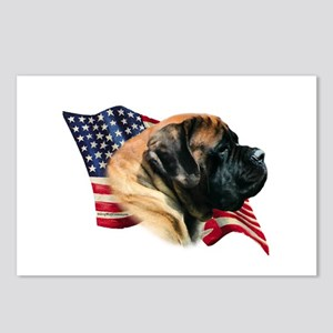 Mastiff(apr) Flag Postcards (Package of 8)