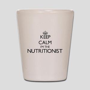 Keep calm I'm the Nutritionist Shot Glass