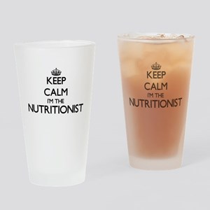 Keep calm I'm the Nutritionist Drinking Glass