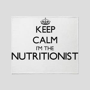 Keep calm I'm the Nutritionist Throw Blanket
