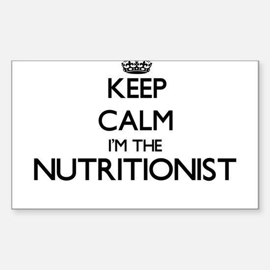 Keep calm I'm the Nutritionist Decal