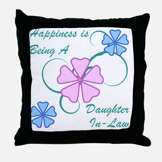 Happiness Daughter-In-Law Throw Pillow