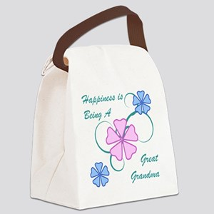 Happiness Great Grandma Canvas Lunch Bag